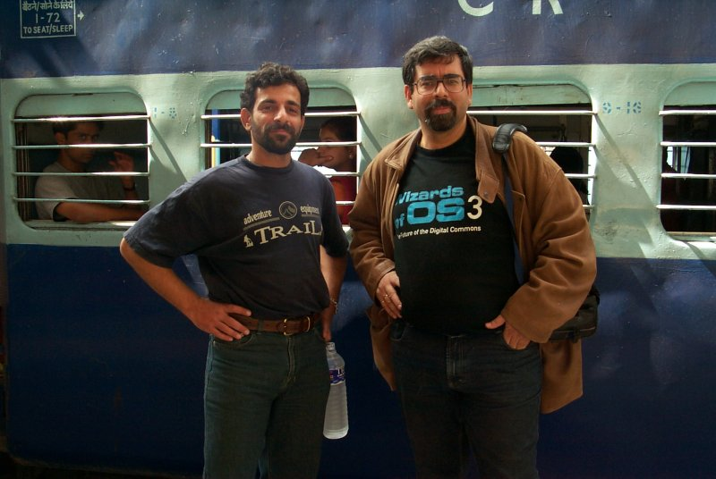 Atul and me - Bangalore 2004